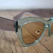 %100 Authentic Miu Miu Sunglasses Cat Eye Smu 11p Light Green 52mm New  Photo