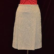 100% Authentic Moschino Wool Multi Color a-Line Skirt Size 8 Photo
