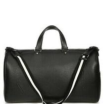 100% Authentic New Bally Black Leather Wiggins Weekender Duffle/duffel Bag Photo