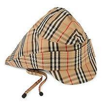 100% Authentic New Burberry Vintage Check Rain Cap/hat Sz Us M/l Photo