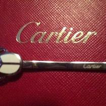 100% Authentic New Cartier Sterling Silver Beetle Bug Hair Barrette Piece Photo