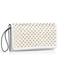 100% Authentic New Christian Louboutin Macaron Spike White Clutch Bag/wallet Photo