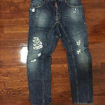 100% Authentic New Dsquared Tiddy Bike Jeans Size 46  Photo
