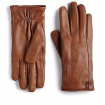 100% Authentic New Men Gucci Almond Leather Gloves Us Sz 9/large Photo
