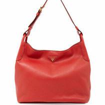 100% Authentic New Prada Vitello Daino Single Strap Red Hobo Handbag/purse/bag Photo