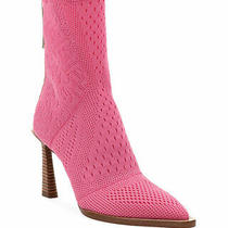 100% Authentic New Women Fendi Stretch Knit Pink Ankle Boots/booties Us 7.5 Photo
