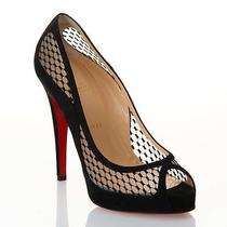 100% Authentic New Women Louboutin Camilla 120 Patent Lace Heels/pumps Us 7 Photo