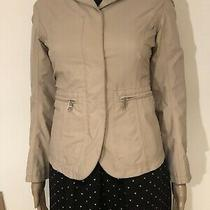 100% Authentic Prada Beige Blazer Jacket With Zipper It Size 38 Photo