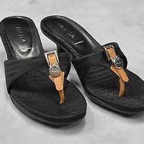 100% Authentic Prada Signature Jacquard Buckle & Logo Sandals Shoes Size It 36.5 Photo