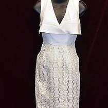 100% Authentic Shoshanna Ivory Silk Sleeveless Dress Size 2 Photo