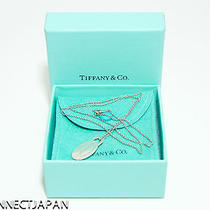 100% Authentic Tiffany & Co. Sterling Silver Oval Pendant Necklace Photo