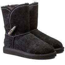 100% Authentic Ugg Australia W Meadow Cuff Short Boots 1008043 Blk Sz 5 New Photo