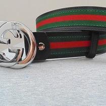 100% Authentic Unused Men's Genuine Real Leather Gucci Belt Photo