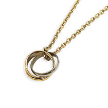 100% Authentic Used Cartier Gold/silver/copper 18k Yellow Gold Trinity Necklace Photo
