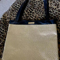 100% Authentic Versace Large Black and Gold Parfums Divided Tote Handbag Purse Photo