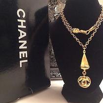 100% Authentic Vintage Chanel Logo Chain Necklace Belt Photo