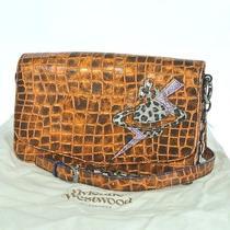 100% Authentic Vivienne Westwood Bolt Orb Chain Shoulder Bag Leather Photo