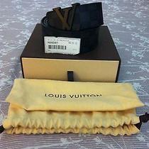 100% Bona Fide Louis Vuitton Initials Damier Graphite Belt Photo