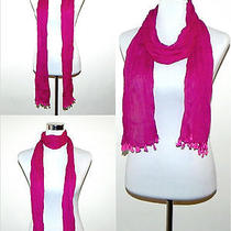 100% Cotton Summer Scarf Green Grey Magenta Black Mens Ladies Natural Fibre Photo