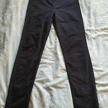 100% Genuine 7 for All Mankind Jeans Size 31 Black High Waisted Skinny  Photo