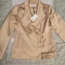 100% Genuine Beautiful Reiss Harriet Beige/blush/baby Pink Biker Jacket Size 4 Photo