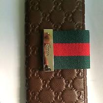 100% Genuine Brown Double Pocket Gucci Wallet Photo