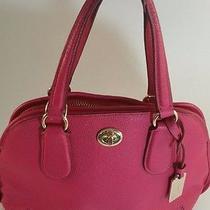 100% Genuine Coach Prairie Satchel Pink/fuchsia Bag Leather Gorgeous Sold Out  Photo