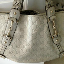100% Gucci Hobo Pelham Off White Cream Monogram Leather Handbag Photo