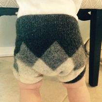 100% Lambs Wool Diaper Cover-Small Argyle Photo