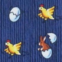 100% Real Hermes Tie  Blue W/ Rabbits Hatching Out of Eggs & Scaring Rabbits Xl Photo