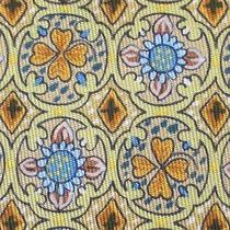 100% Real Hermes Tie  Yellow W Orange Shamrocks 4 Leaf Clovers Blue Flowers Xl Photo
