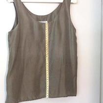 100% Silk Tank Top - Olive Green - Size Small Photo