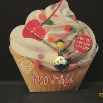 1000 Wishes Cupcake Necklace W/ Swarovski Crystal Accent-Made in Usa  Photo