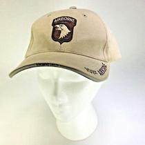 101st Airborne Screaming Eagles Baseball Style Tan Adjustable Hat Ft Campbell Photo