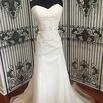 104 Eden Bl115a Ivory Blush Sz 14 Strapless  Wedding Gown Dress Photo