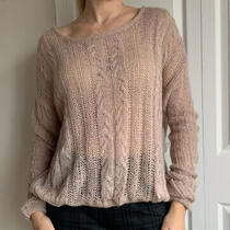 108 Nwt Free People Knit Blush/pink Alpaca Sweater. Size Small Photo