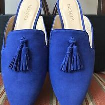 109 New Talbots Women's Sapphire Blue Genuine Suede Mules Flats Shoes Size 7.5m Photo
