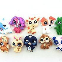 10pcs Littlest Pet Shop Shoe Charms for Croc Shoes & Wristband Bracelet Photo