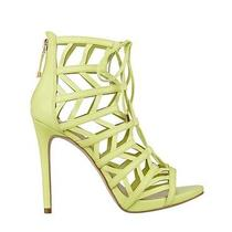 110 Guess Women's Anasia Caged High Heels in Yellow Lace Up Size 7 Photo