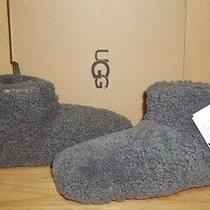 110 Nib Ugg Australia Amary Grey Fluffy Womens Slippers Size 8 Photo