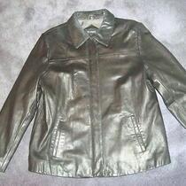 111 State Black Lamb Leather Jacket Size Large Like New Photo