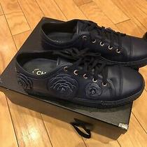 1125 Chanel Sneakers Shoes Boots  Blue Size 39/9  New With Tag 100 % Auth  Photo