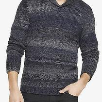 118 Mens Wool Blend Shawl Collar Oversized Sweater Size Medium Free Shipping Photo