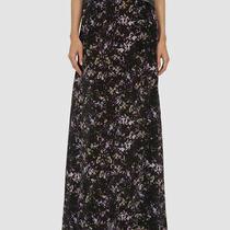 1195 Zac Posen Women's Black Printed Silk High Waisted Maxi Skirt Size 6 Photo