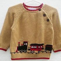 12/18 M Boys Boutique Janie & Jack Holiday Express Xmas Portrait Train Sweater Photo