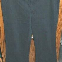 12 Ankle Gap Dark Blue Pinstripe Pants W/ Cuffs Photo