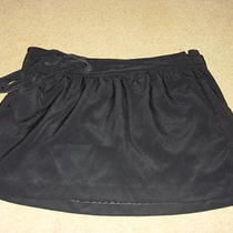 12 Express Black Full Mini Ribbon Tie Bow Skirt Euc Club Cocktail Sexy Cute Photo
