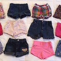 ( 12 ) Girl's 3t Shorts Lot Carter's Oshkosh Old Navy Others Only 2.00 Each Photo