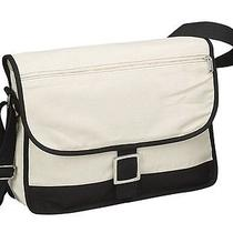 12 Oz Natural Cotton Canvas Eco Friendly School Travel Flap-Over Messenger Bag  Photo