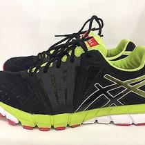 120 Asics Gel-Lyte 33 Mens Sz 11.5 Running Shoes Black Lime Red T317n Reflectiv Photo